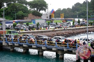 Arus kendaraan di Pelabuhan Merak normal