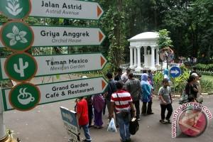 EARTH WIRE -- Over nine thousand holidaymakers visit Bogor Botanical Garden