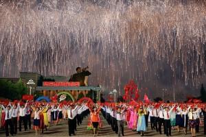Korea Utara sambut Tahun Baru dengan kembang api