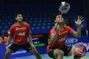 Ganda putra Indonesia gagal ke semifinal Dubai