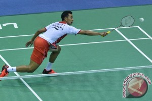 Tim Thomas Indonesia unggul sementara 1-0 dari Hong Kong