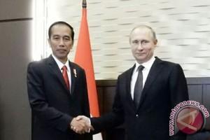 Presiden Jokowi temui Presiden Putin di Bocharoc Rucey, Sochi