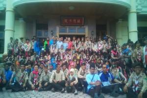 Peserta Kemah Wirakarya belajar toleransi di pura, gereja dan vihara