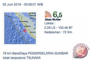 Warga Padang rasakan guncangan gempa Mukomuko