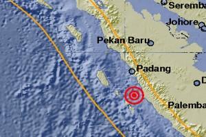 Getaran gempa dirasakan warga Solok Selatan