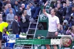 Murray ke final Prancis Terbuka setelah taklukkan Wawrinka