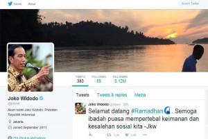 Presiden Jokowi sampaikan ucapan selamat Ramadhan