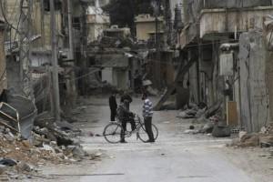 Konvoi bantuan kemanusiaan untuk Suriah tiba di Daraya