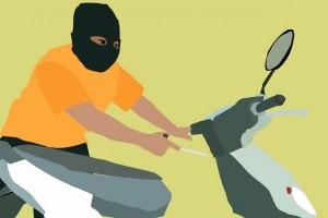 Oknum polisi curi sepeda motor di Bandung