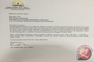 Fadli Zon surati menteri luar negeri kembalikan uang transport anak