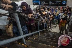 13.624 pemudik tiba di Stasiun Pasar Senen