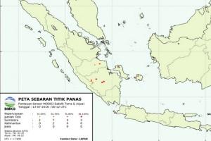 BMKG: 161 titik panas muncul di Sumatera