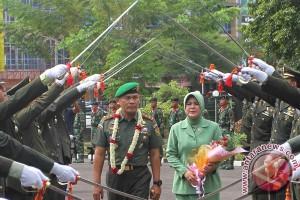 Penyambutan Pangdam II/Sriwijaya
