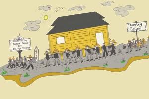 Antara doeloe : Warga pindahkan kampung demi keamanan