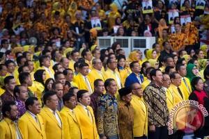 Jokowi bersama Megawati hadiri penutupan Rapimnas Golkar