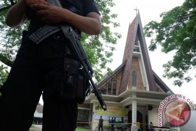 Penjagaan Gereja Pascateror Bom