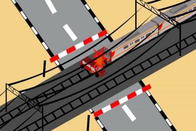 Kecelakaan kereta tewaskan tiga orang di Surabaya