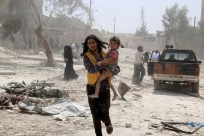 Jet-jet tempur Rusia gempur Aleppo