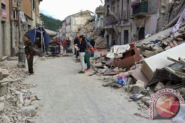 Gempa Kuat Kembali Guncang Italia Tengah