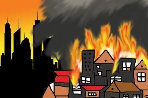 10 Damkar padamkan kebakaran di Cimanggis