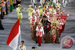 Kontingen Indonesia upacara HUT Kemerdekaan RI