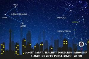 Lampu pusat kota Jakarta tetap terang di #MalamLangitGelap