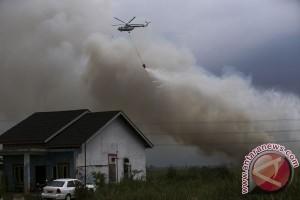 Pemadaman kebakaran lahan-hutan di Riau dilanjutkan