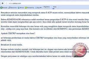 Kemkominfo blokir situs pengecekan rekam data e-KTP