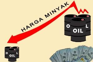 Harga minyak dunia turun karena produksi AS meningkat