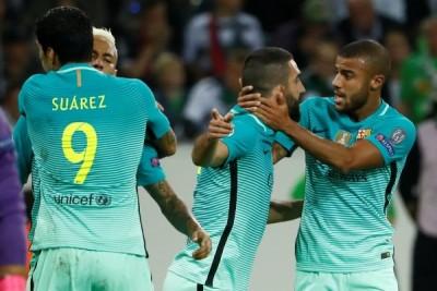 Balikkan kedudukan, Barcelona tekuk Gladbach 2-1