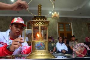 PON 2016 - Api PON dilepas dari Garut menuju Sumedang