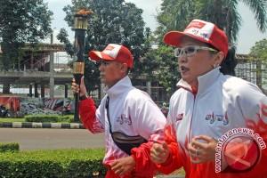 Kirab Api PON Di Bogor