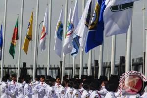 Pengibaran Bendera Kontingen PON Jabar
