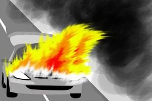 Mobil kas Bank Jateng Cabang Kudus terbakar