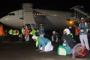 11 kloter jamaah haji tiba di tanah air pada Minggu