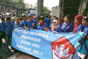 Sandiaga Uno disambut meriah warga Semper Jakarta Utara