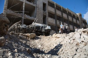 Head of hospital in rebel-held Aleppo says bombardment killed 91