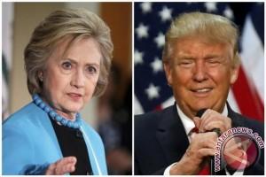 Hillary Clinton dan Donald Trump saling serang soal ras