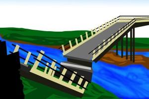 Hujan deras sebabkan longsor dan jembatan putus di Magelang