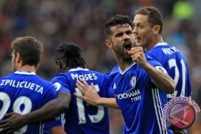 Chelsea hajar Hull 2-0, Diego Costa bermain gemilang