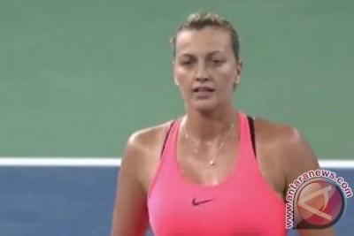 Kvitova tundukkan Halep untuk capai final Wuhan Open