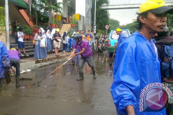 Banjir di Pasteur Bandung cepat surut
