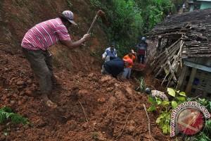 Tujuh rumah di Trenggalek rusak diterjang longsor