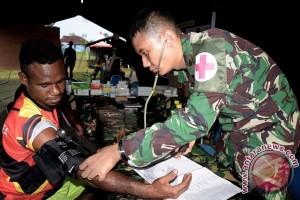 Satgas cek kesehatan warga di perbatasan Papua