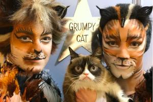 Grumpy Cat diabadikan dalam patung lilin dan debut Broadway