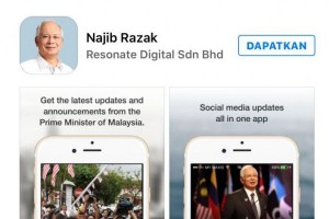 PM Najib Razak luncurkan aplikasi