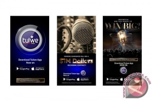 Tulwe gelar kontes menyanyi via aplikasi, hadiah jutaan dolar