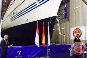 Badan kapal KRI Bima Suci diluncurkan dari galangan kapalnya di Spanyol