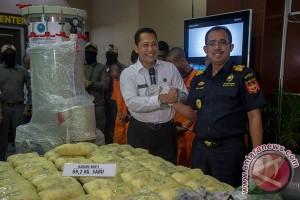 Penyelundupan sabu-sabu dalam mesin pompa dikendalikan Malaysia