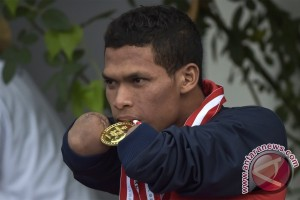 PEPARNAS - Miswan, atlet sekaligus penjahit keluarga Presiden Jokowi